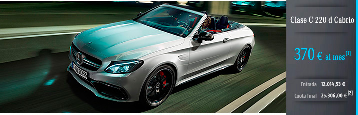 Clase C 220 d Cabrio con Mercedes-Benz Alternative Lease