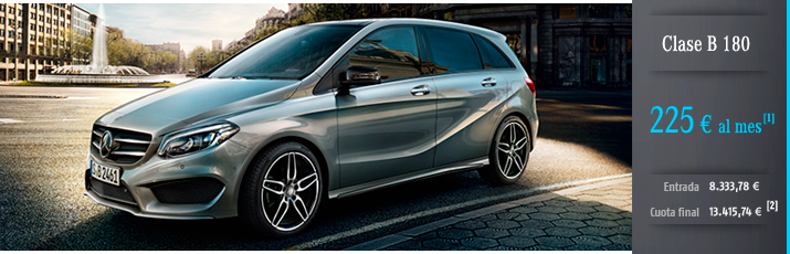 Oferta Mercedes Clase B 180 con Mercedes-Benz Alternative